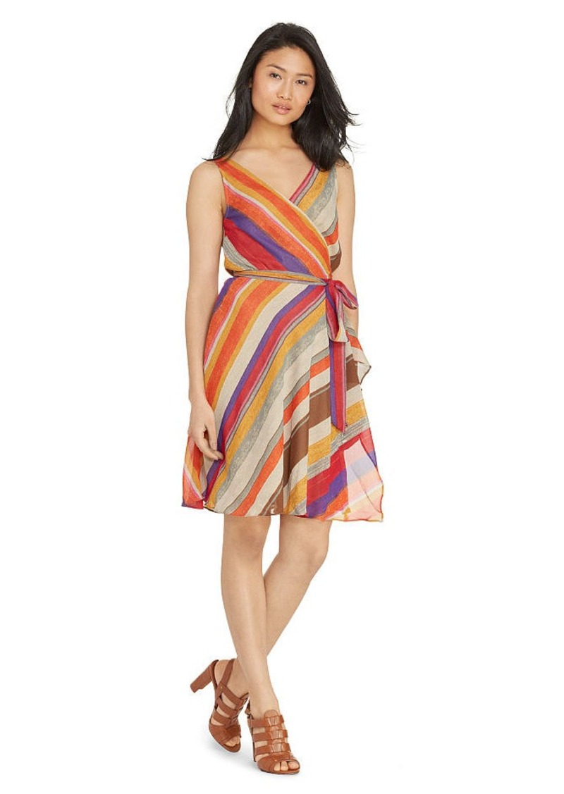 Ralph Lauren Striped Wrap Dress