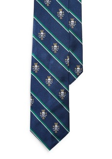 Ralph Lauren Stripes & Skulls Narrow Tie
