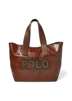 Ralph Lauren Studded Leather Polo Tote Bag