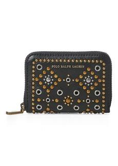 Ralph Lauren Studded Small Zip Wallet