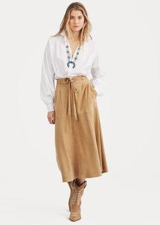 Ralph Lauren Suede A-Line Skirt
