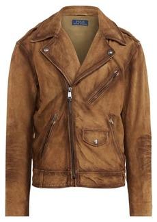 Ralph Lauren Suede Biker Jacket