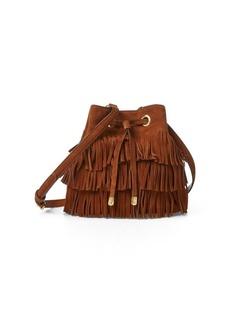 Ralph Lauren Suede Debby Drawstring Bag