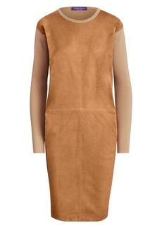 Ralph Lauren Suede Front Crewneck Dress