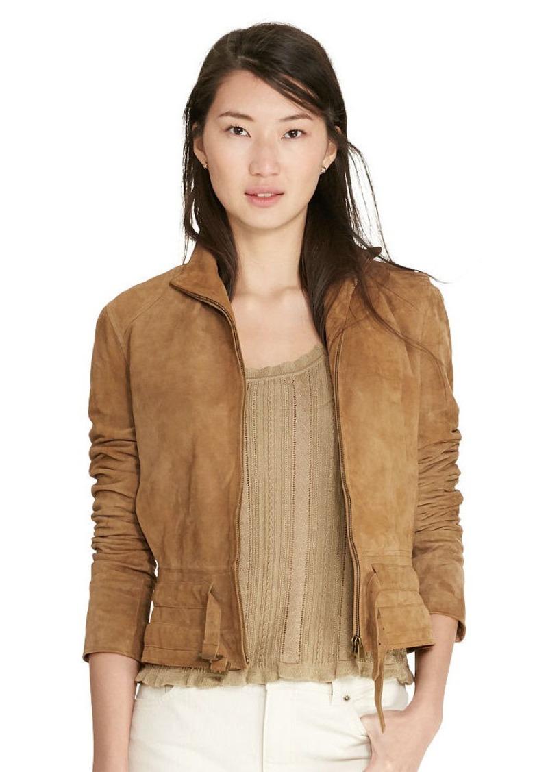 Ralph Lauren Suede Full-Zip Jacket