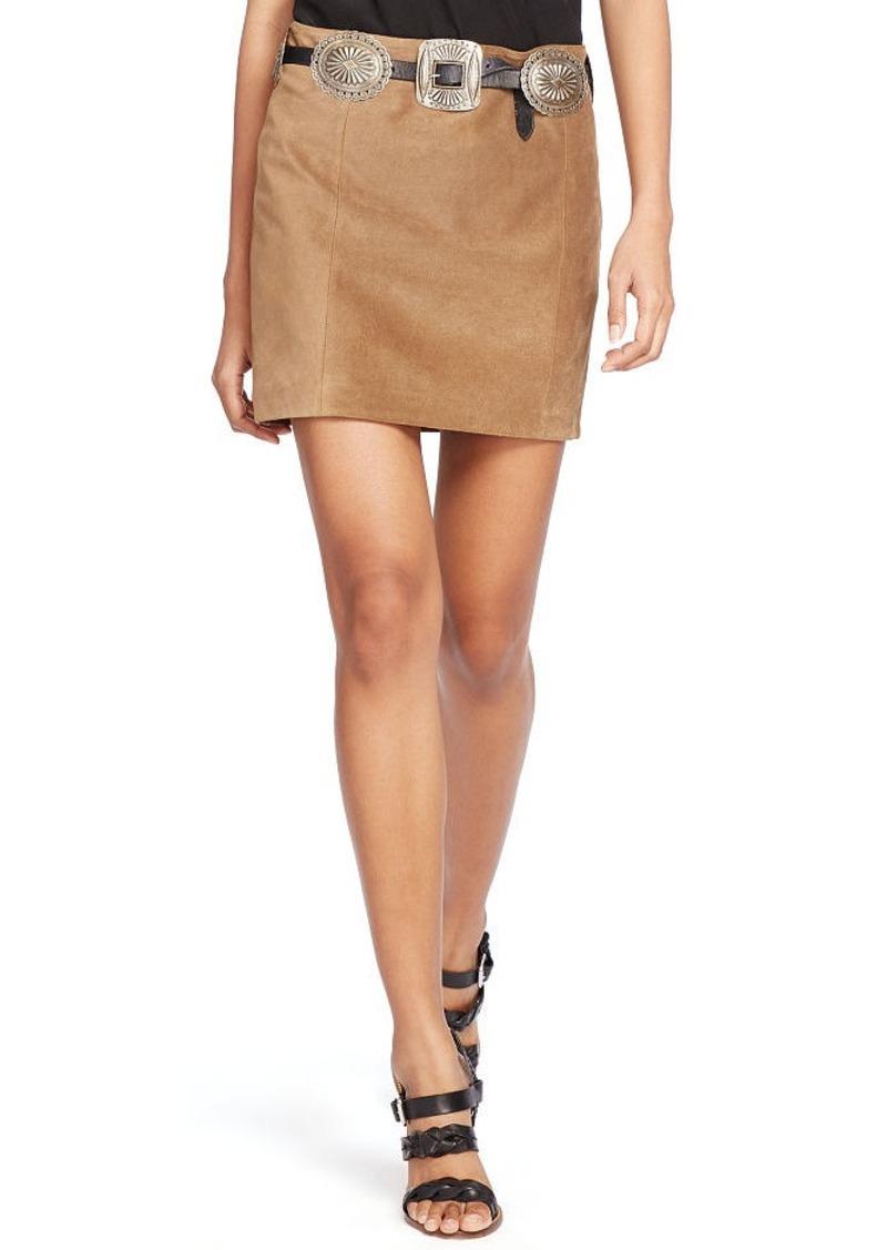 Ralph Lauren Suede Miniskirt