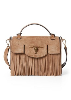 Ralph Lauren Suede Small Schooly Bag