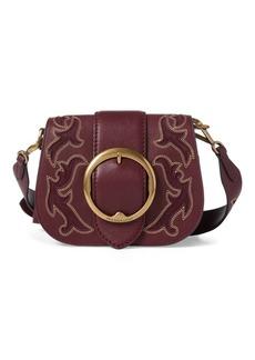 Ralph Lauren Suede-Trim Leather Lennox Bag