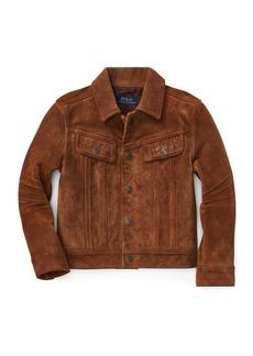 Ralph Lauren Suede Trucker Jacket  Size 2-4
