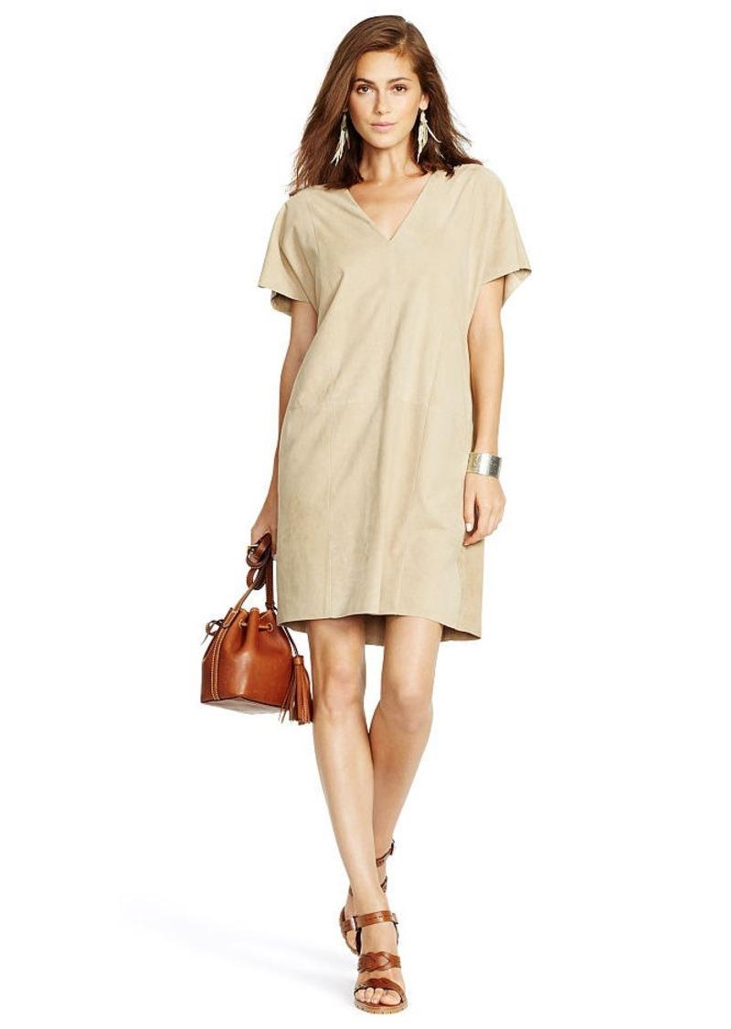 Ralph Lauren Suede V-Neck Shift Dress