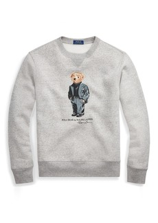Ralph Lauren Suit Bear Fleece Sweatshirt
