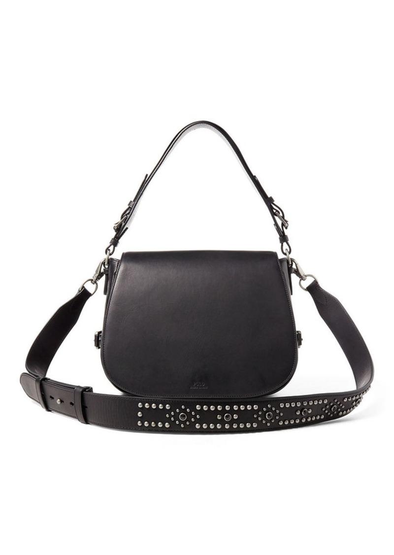 Ralph Lauren Sullivan Studded Saddle Bag   Handbags e4da59939f