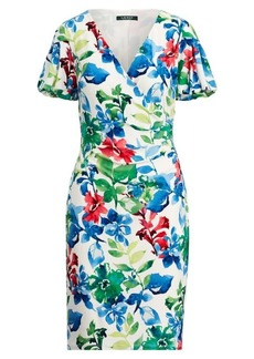 Ralph Lauren Surplice Stretch Jersey Dress