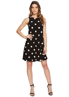 Ralph Lauren Suzan Peninsula Dot Matte Jersey Dress