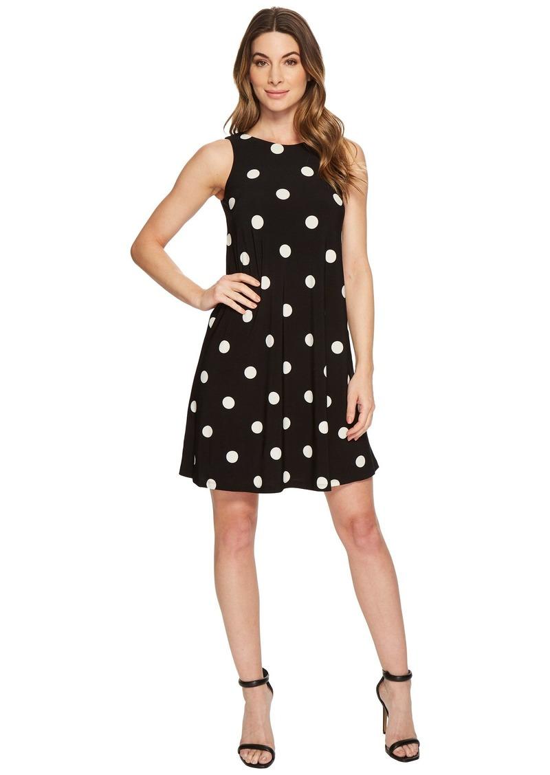 Ralph Lauren Suzan Peninsula Dot Matte Jersey Dress