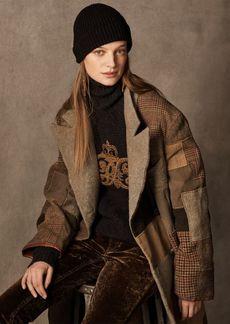 Ralph Lauren Sydney Patchwork Coat