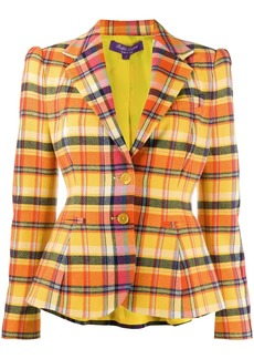 Ralph Lauren tailored check print blazer
