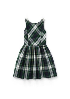 Ralph Lauren Tartan Fit-and-Flare Dress