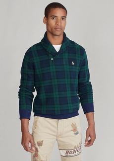 Ralph Lauren Tartan Shawl-Collar Sweatshirt