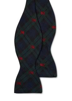 Ralph Lauren Tartan Silk Butterfly Bow Tie
