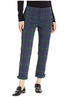Ralph Lauren Tartan Stretch Cotton Skinny Pants