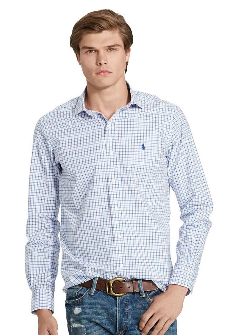 Ralph Lauren Tattersall Poplin Sport Shirt