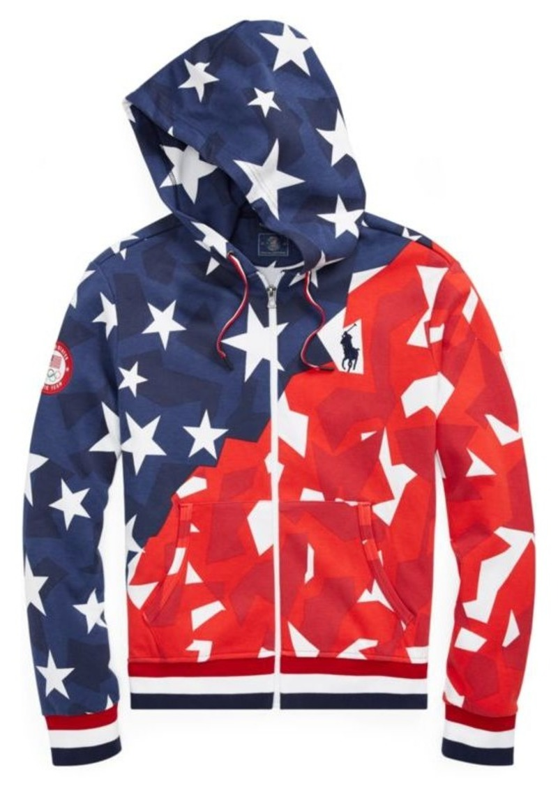 Ralph Lauren Team USA Double-Knit Hoodie