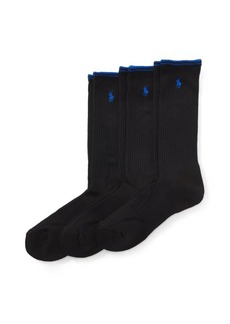 Ralph Lauren Tech Athletic Crew Sock 3-Pack