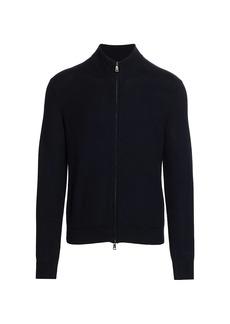 Ralph Lauren Textured Full-Zip Mockneck Sweater