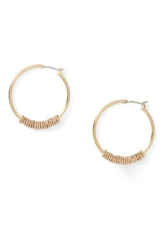 Ralph Lauren Textured Hoop Earrings