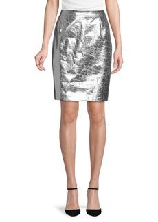 Ralph Lauren Textured Leather Skirt