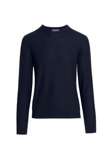 Ralph Lauren Textured Long-Sleeve Crew Sweater