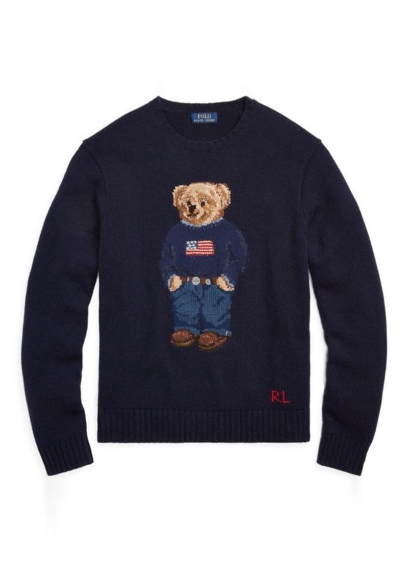 83bb93088ca27 Polo Ralph Lauren Bear Intarsia Wool Blend Sweater