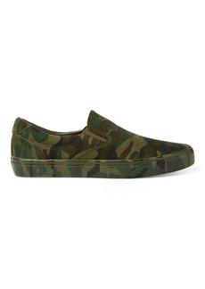 Ralph Lauren Thompson Camo Suede Sneaker