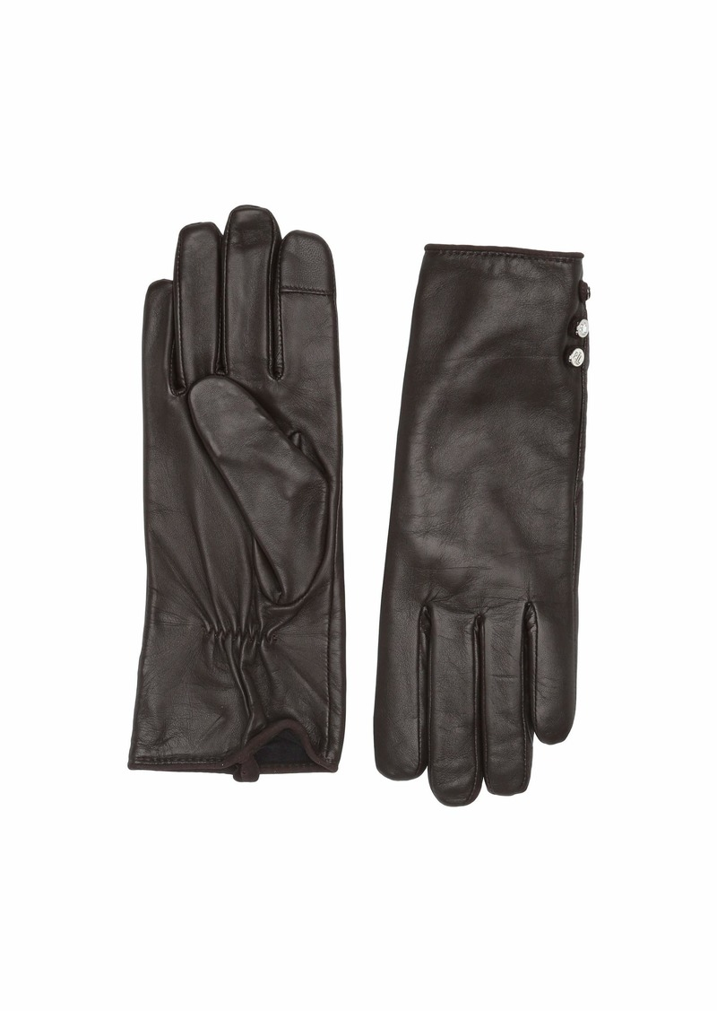 Ralph Lauren Three-Button Leather Gloves