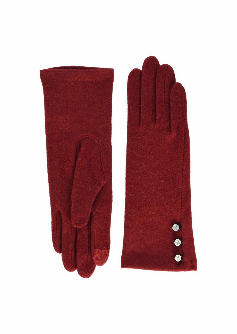 Ralph Lauren Three-Button Touch Gloves