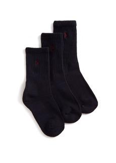 Ralph Lauren Three-Pair Casual Sport Crew Socks