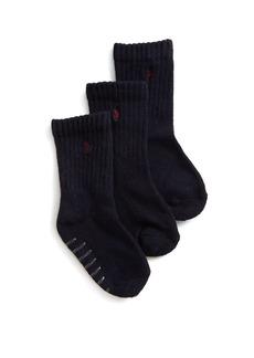 Ralph Lauren Three-Pair Sport Crew Socks