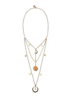 Ralph Lauren Three-Tier Charm Necklace