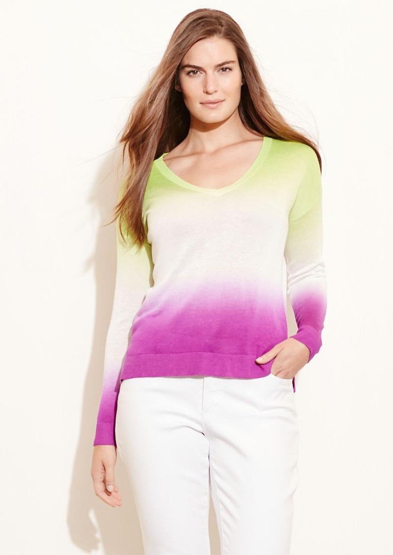 Ralph Lauren Tie-Dye V-Neck Sweater