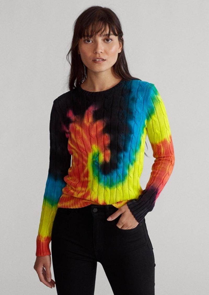 Ralph Lauren Tie-Dye Cable-Knit Sweater