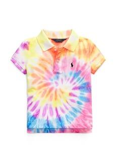 Ralph Lauren Tie-Dyed Mesh Polo Shirt