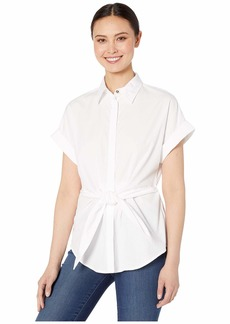 Ralph Lauren Tie-Front Cotton Shirt