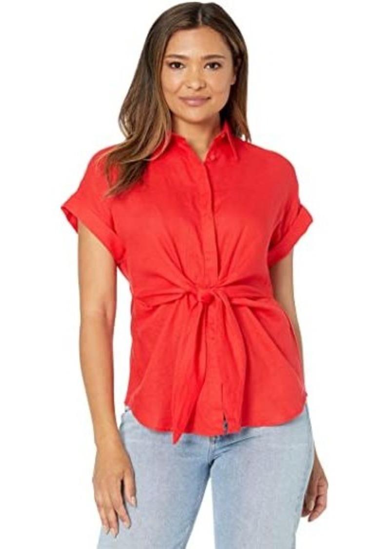 Ralph Lauren Tie-Front Linen Shirt