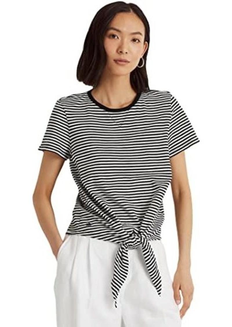 Ralph Lauren Tied Hem Slub Jersey T-Shirt