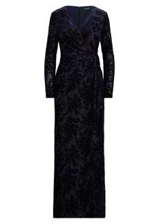 Ralph Lauren Tied Wrap Gown