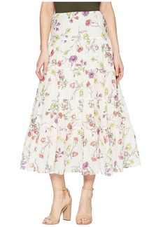 Ralph Lauren Tiered Cotton-Blend Skirt