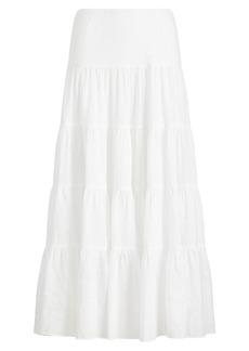 Tiered Cotton Maxiskirt
