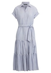 Ralph Lauren Tiered Cotton Shirtdress