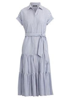 Ralph Lauren Tiered Cotton Shirtdress